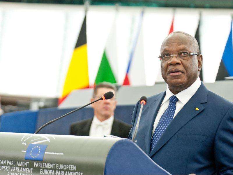 Prezydent Mali Ibrahim Boubacar Keita w Parlamencie Europejskim.