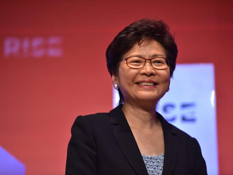 USA nałożyły sankcje na szefową lokalnej administracji Hongkongu Carrie Lam, źródło: Flickr/fot. Seb Daly/RISE via Sportsfile (CC BY 2.0)