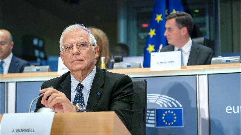 W imieniu wszystkich 27 państw członkowskich oświadczenie na temat Białorusi wydał Josep Borrell (CC-BY-4.0: © European Union 2019 – Source: EP)