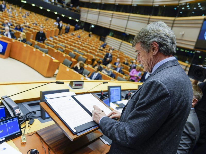 Sesja plenarna Parlamentu Europejskiego w budynku Parlamentu przy Rue du Lombard/Lombardstraat w Brukseli [Flickr, European Parliament, CC BY 4.0]
