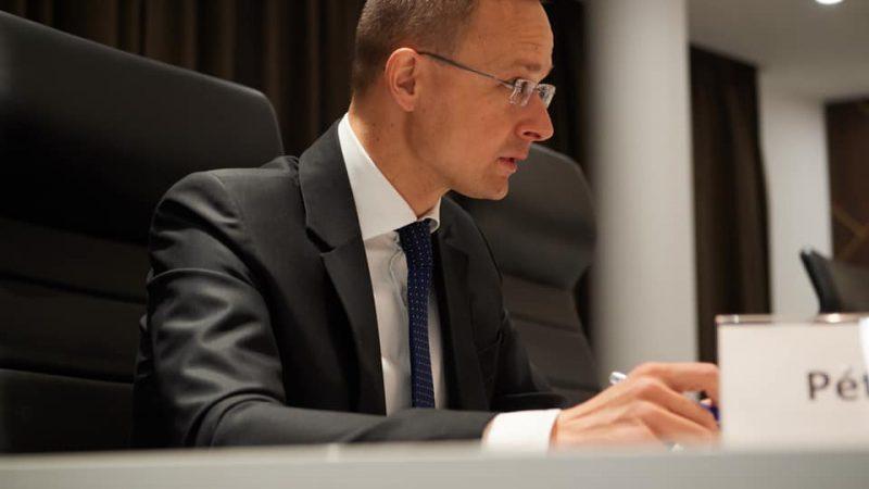 Minister spraw zagranicznych Węgier Péter Szijjártó [Facebook, @szijjarto.peter.official]