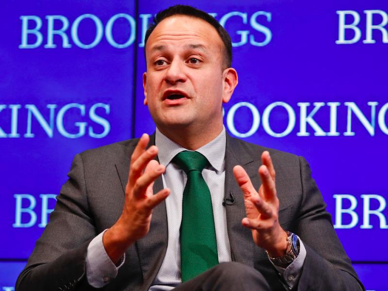 Były premier Irlandii (a obecnie wicepremier) Leo Varadkar jest typowany na następcę Phila Hogana jako komisarza UE ds. handlu, źródło: Flickr/Brookings Institution, fot. Paul Morigi (CC BY-NC-ND 2.0)