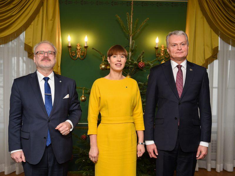 Prezydenci Łotwy (Egils Levits), Estonii (Kersti Kaljulaid) i Litwy (Gitanas Nausėda) [Twitter, @GitanasNauseda]