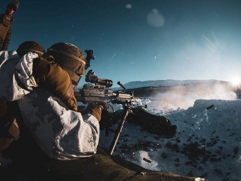Żołnierze marines podczas ćwiczeń Cold Response 2020 w Norwegii [Twitter, U.S. Marine Corps Forces Europe & Africa, @USMCFEA]