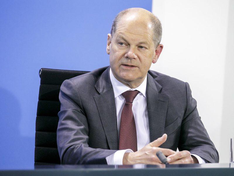 Wicekanclerz i minister finansów, kandydat SPD na kanclerza Niemiec Olaf Scholz [Twitter, @OlafScholz]