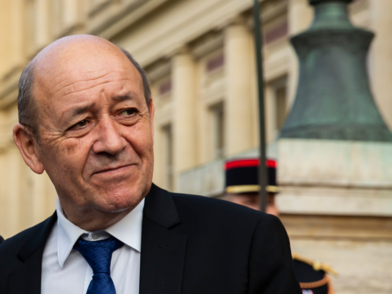Minister spraw zagranicznych Francji Jean-Yves Le Drian.