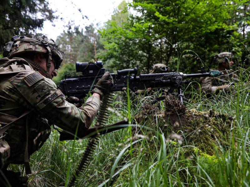 Amerykański żołnierz w Polsce podczas ćwiczeń Defender Europe 20 [Twitter, @USArmyEurope]
