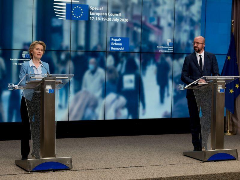 Przewodnicząca Komisji Europejskiej Ursula von der Leyen i przewodniczący Rady Europejskiej Charles Michel [Twitter, @vonderleyen]