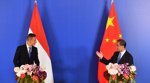 Spotkanie ministrów spraw zagranicznych Chin i Węgier