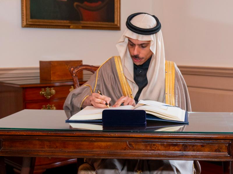 Minister spraw zagranicznych Arabii Saudyjskiej książę Fajsal bin Farhan, źródło: Flickr/U.S. Department of State, fot. Ron Przysucha (CC0 Public Domain)
