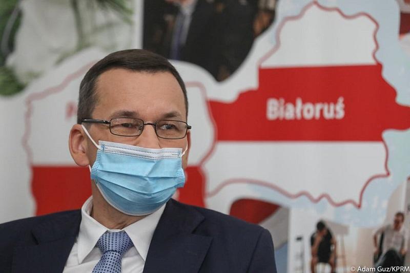 Premier Mateusz Morawiecki ws. pomocy Polski dla Bialorusi, źródło fb Kancelaria Premiera