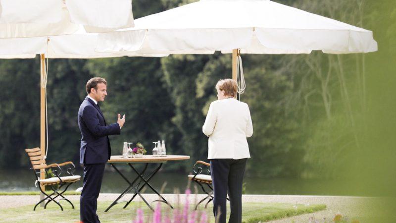 Prezydent Emmanuel Macron i kanclerz Angela Merkel [@Facebook Emmanuel Macron]