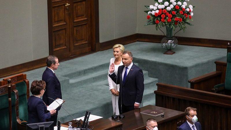 Zaprzysiężęnie prezydenta Andrzeja Dudy na drugą kadencję, źródło Jakub Szymczuk KPRP