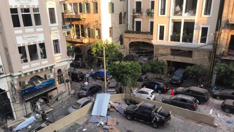 Zniszczenia po eksplozji w Bejrucie, źródło: Wikipedia, fot. Anchal Vohra/VOA (CC0 Public Domain)