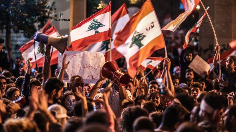 Protest w stolicy Libanu - Bejrucie, źródło: Pexels, fot. Charbel Msallem (CC0 Public Domain)