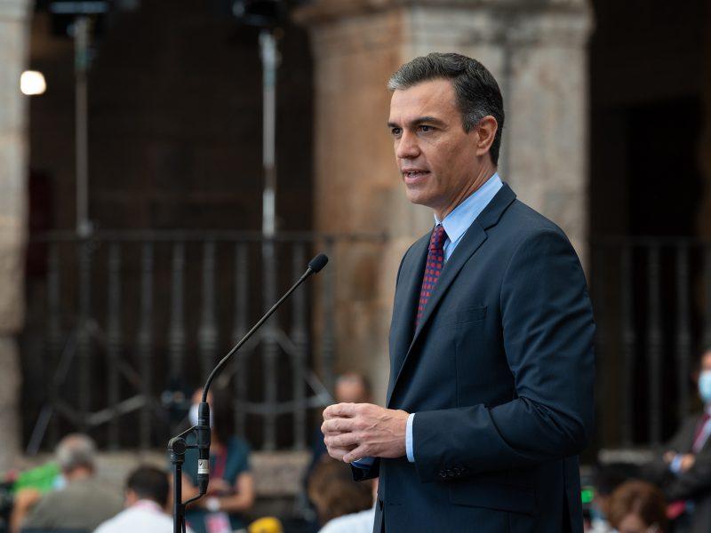 Premier Hiszpanii Pedro Sanchez (PSOE). / Foto via flickr @La Moncloa - Gobierno de España, licencja (CC BY-NC-ND 2.0)
