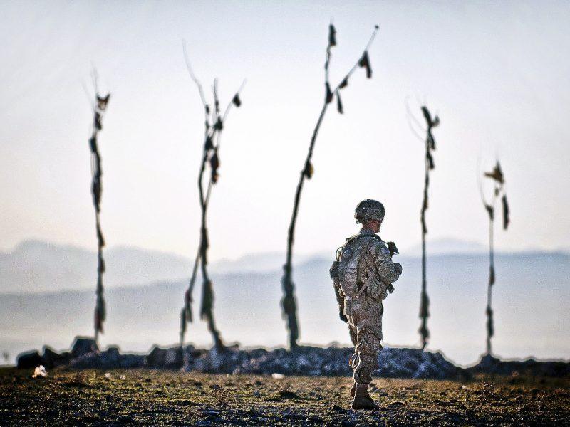 Amerykański żołnierz w Afganistanie, fot. sierżant Michael J. MacLeod