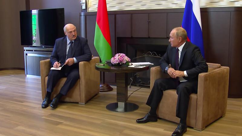 Aleksander Łukaszenka i Władimir Putin podczas spotkania w Soczi, źródło: en.kremlin.ru (CC BY 4.0)