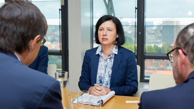 Komisarz UE ds. praworządności Věra Jourová