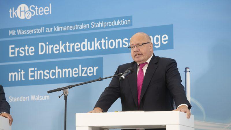 Minister gospodarki Niemiec Peter Altmaier (na zdj.) wyraził wątpliwość co do skuteczności sankcji nałożonych na Rosję.