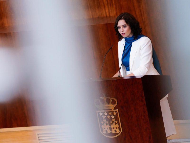 Isabel Díaz Ayuso (na zdj.) jest od 2019 r. prezydentem Wspólnoty autonomicznej Madrytu / Foto via twitter @IdiazAyuso