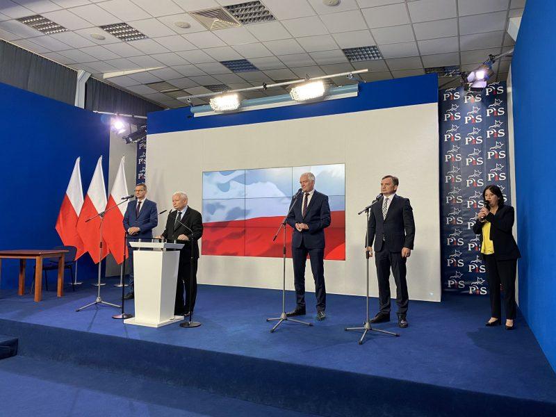 Konferencja Zjednoczonej Prawicy na Nowogrodzkiej [@RzecznikPiS]