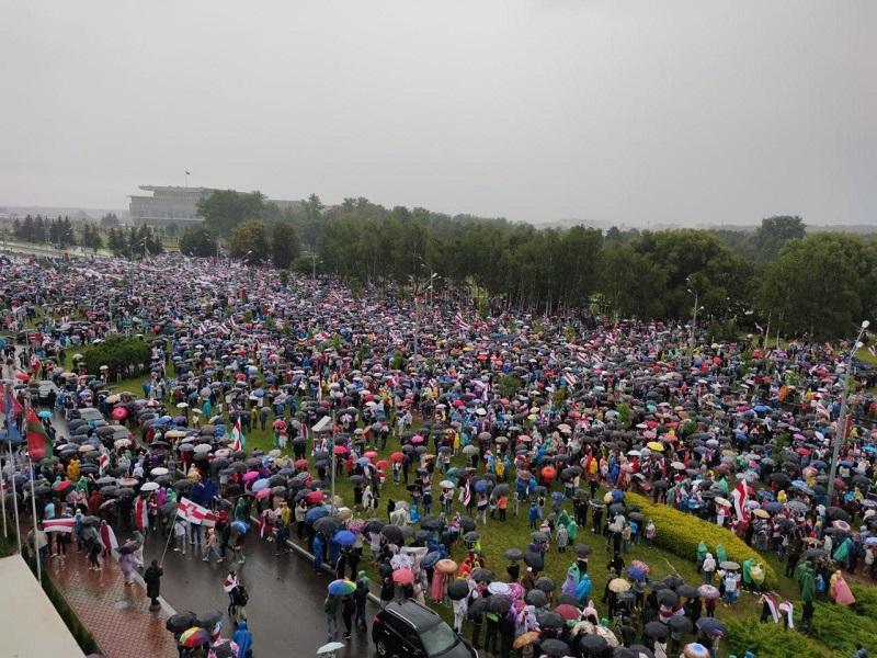 Niedzielny protest w Mińsku 6.09.20, źródło twitter TUT.BY