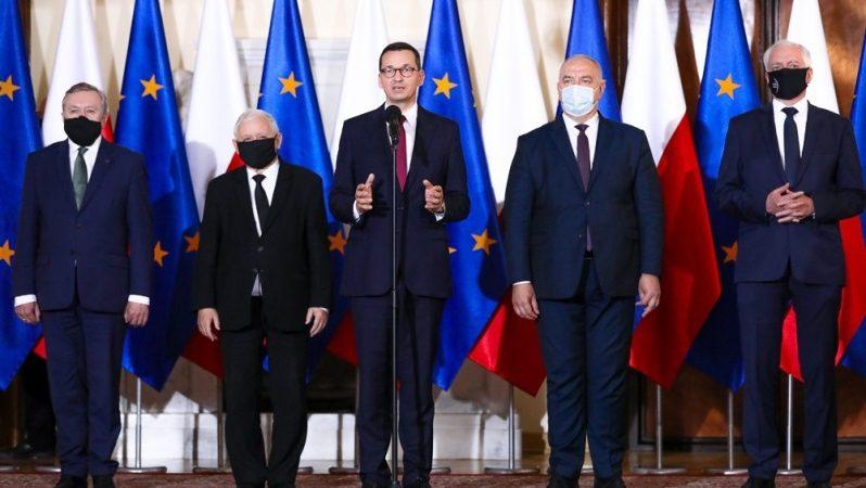 Premier Mateusz Morawiecki przedstawia skład kandydatów do rządu po rekonstrukcji, źródło KPRM