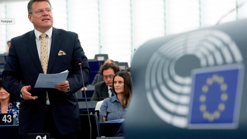 Wiceprzewodniczący KE Maroš Šefčovič, źródło: EC - Audiovisual Service/European Union 2020, fot. Etienne Ansotte