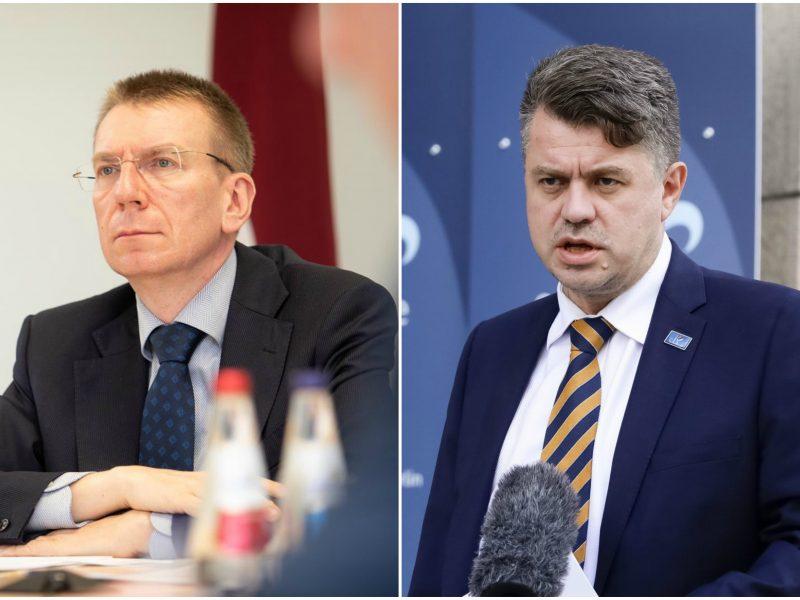 Ministrowie spraw zagranicznych Łotwy (Edgars Rinkēvičs) i Estonii (Urmas Reinsalu)