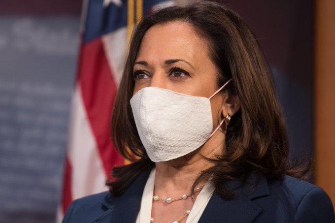 Kamala Harris, presidential debate, USA, Mike Pence, debate, covid-19, mask