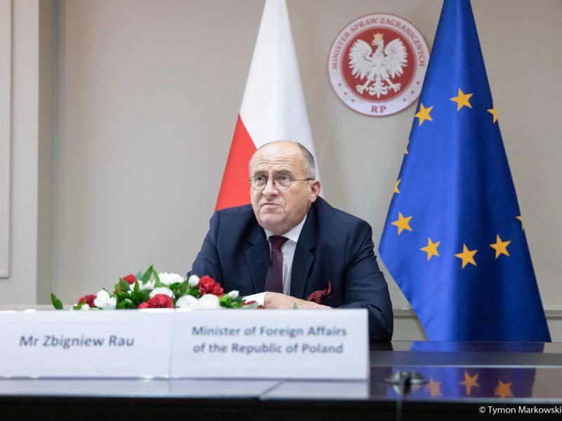 Minister spraw zagranicznych Polski Zbigniew Rau