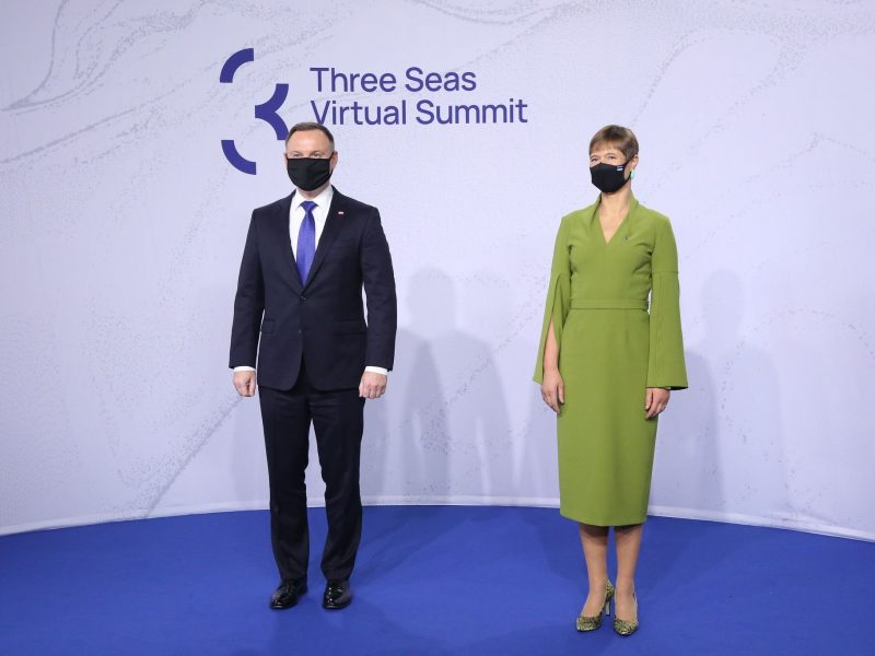 Prezydent Estonii Kersti Kaljulaid i prezydent Polski Andrzej Duda
