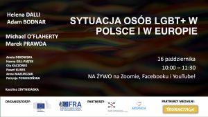 WEBINAR: Sytuacja Osób LGBT+ w Polsce i w Europie