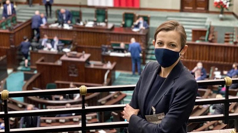 Kandydatka na RPO Zuzanna Rudzińska -Bluszcz w Sejmie, źródło twitter Zuzanna Rudzińska-Bluszcz