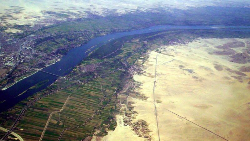 Nil Błękitny płynący przez Etiopię, źródło: Wikipedia, fot. Bionet (CC0 Public Domain)