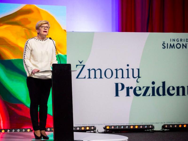 Nowym premierem Litwy zostanie zapewne Ingrida Šimonytė, źródło: Facebook/ Už Ingridą (@uzingrida)