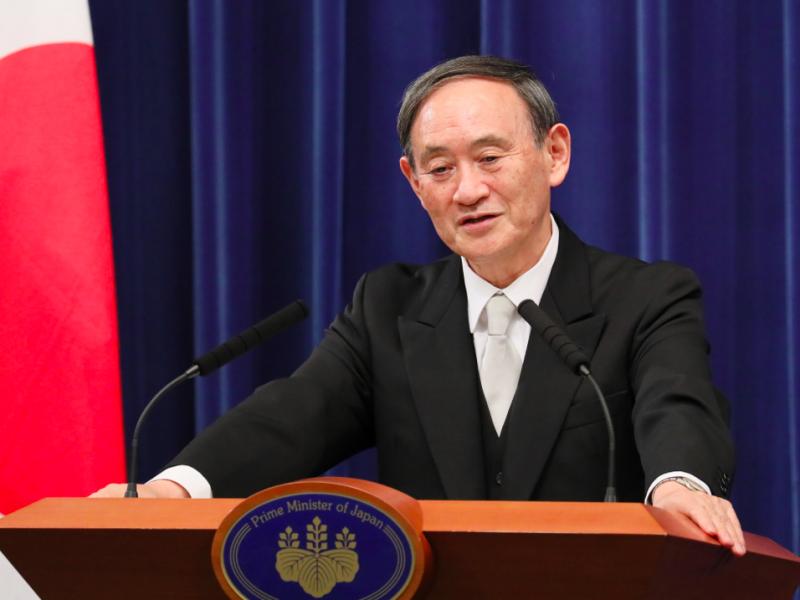 Premier Japonii Yoshihide Suga, źródło: Goverment of Japan (kantei.go.jp)/内閣官房内閣広報室 (CC BY 4.0)