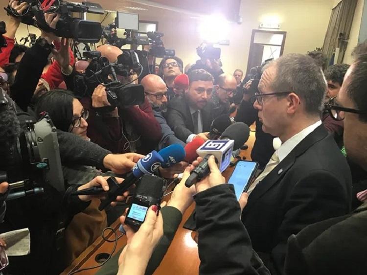 Szef WHO na Europę dr Hans Henri Kluge, konf. pras., źródło euro.who