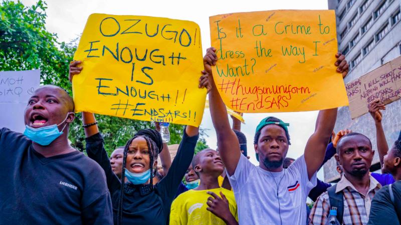 Protesty w Nigerii, źródło: Wikipedia, fot. TobiJamesCandids (CC BY-SA 4.0)