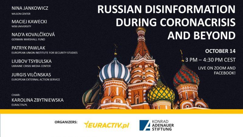Dezinformacja, Rosja, COVID-19, koronawirus, cyberbezpieczeństwo