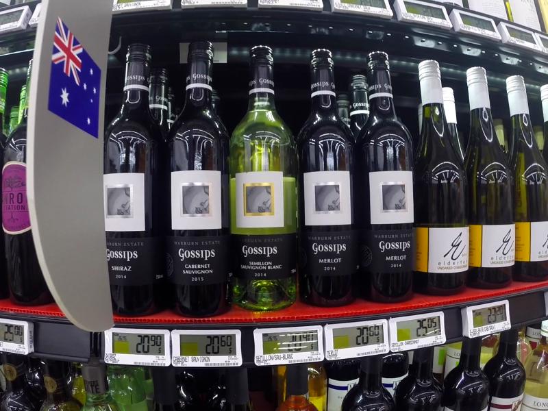 Australijskie wina sąbardzo popularne na chińskim rynku, źródło: Wikipedia, fot. Maksym Kozlenko (CC BY-SA 4.0)