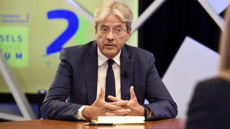 Komisarz UE ds. gospodarczych Paolo Gentiloni