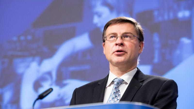 Unia Europejska, USA, cła, wojna handlowa, Dombrovskis