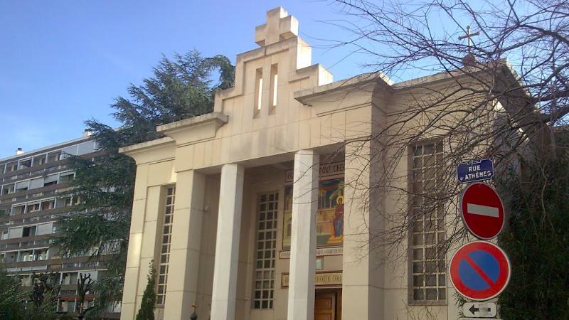 Grecki kościół prawosławny w Lyonie, przed którym doszło do próby zabójstwa duchownego, źródło: Les communautés orthodoxes et orientales à Lyon