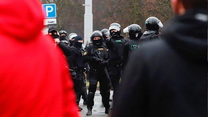 Kolejny protest na Białorusi, źródło twitter Franak Viacorka za Nasza Niwa.by