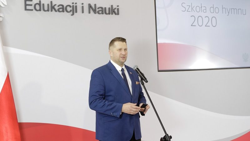 Minister edukacji i nauki Przemysław Czarnek w resorcie, twitter Przemysław Czarnek