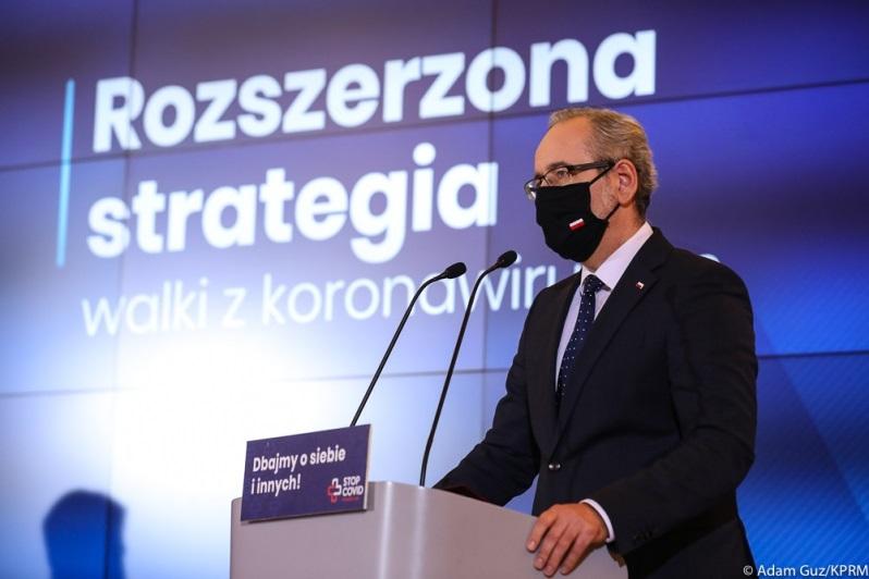 Minister zdrowia Adam Niedzielski, konf.pras. poświęcona trzeciej strategii walki z koronawirusem, źródło Adam Guz KPRM