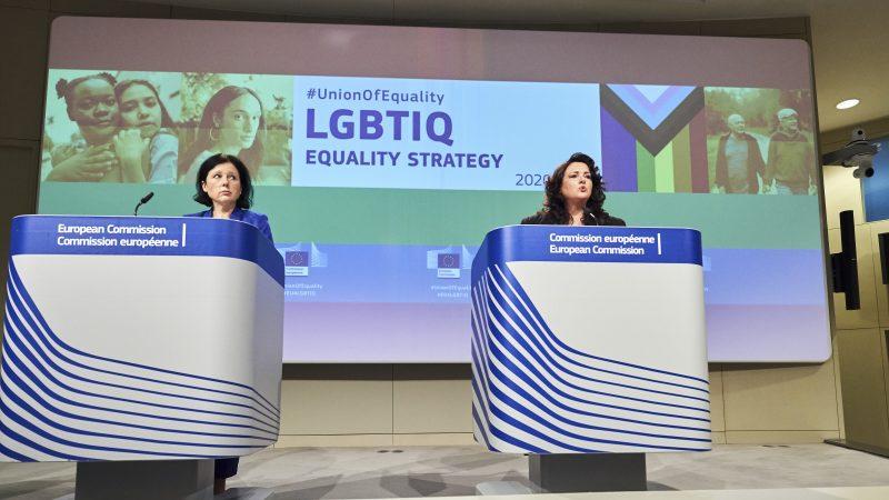 Prezentacja unijnej strategii na rzecz równości osób LGBTIQ, źródło: EC - Audiovisual Service/European Union 2020, fot. Dati Bendo
