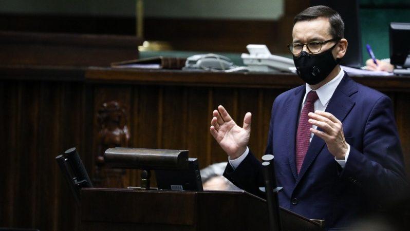 Premier Mateusz Morawiecki w sejmie nt. unijnego mechanizmu praworządności, źródło Adam Guz KPRM